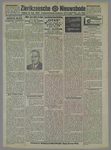Zierikzeesche Nieuwsbode 1934-08-10