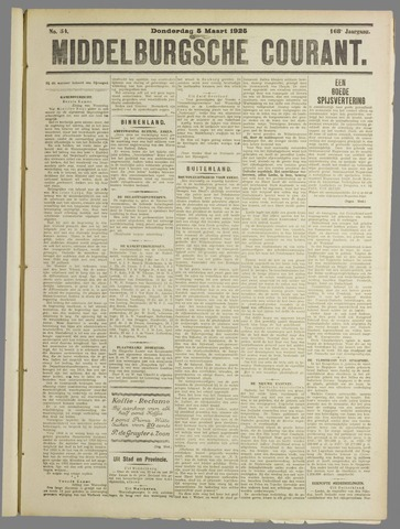 Middelburgsche Courant 1925-03-05