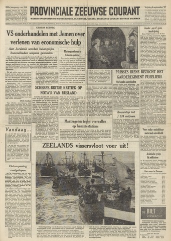 Provinciale Zeeuwse Courant 1957-09-06