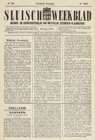 Sluisch Weekblad. Nieuws- en advertentieblad voor Westelijk Zeeuwsch-Vlaanderen 1873-12-02