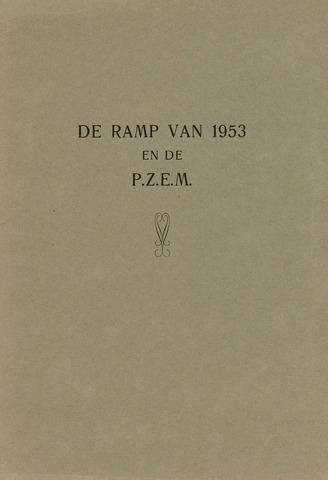 Watersnood documentatie 1953 - brochures 1956