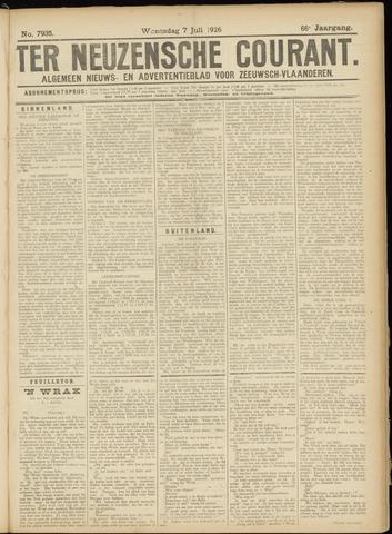 Ter Neuzensche Courant. Algemeen Nieuws- en Advertentieblad voor Zeeuwsch-Vlaanderen / Neuzensche Courant ... (idem) / (Algemeen) nieuws en advertentieblad voor Zeeuwsch-Vlaanderen 1926-07-07