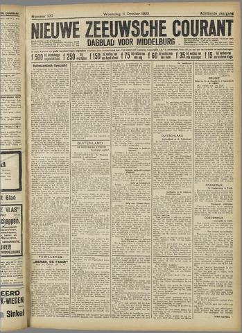 Nieuwe Zeeuwsche Courant 1922-10-11