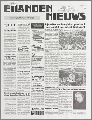 Eilanden-nieuws. Christelijk streekblad op gereformeerde grondslag 2004-07-09