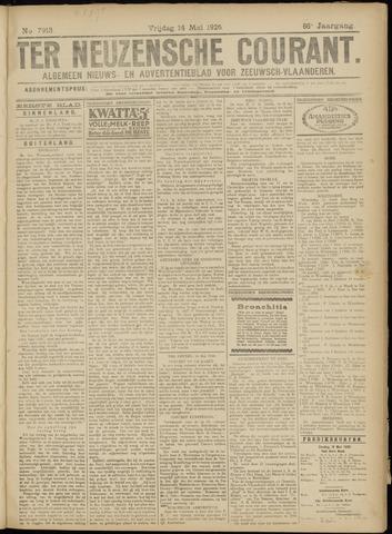 Ter Neuzensche Courant. Algemeen Nieuws- en Advertentieblad voor Zeeuwsch-Vlaanderen / Neuzensche Courant ... (idem) / (Algemeen) nieuws en advertentieblad voor Zeeuwsch-Vlaanderen 1926-05-14