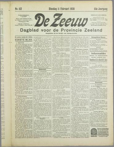 De Zeeuw. Christelijk-historisch nieuwsblad voor Zeeland 1930-02-11