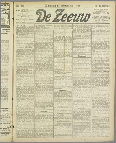 De Zeeuw. Christelijk-historisch nieuwsblad voor Zeeland 1919-12-15
