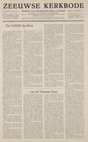 Zeeuwsche kerkbode, weekblad gewijd aan de belangen der gereformeerde kerken/ Zeeuwsch kerkblad 1959-10-23