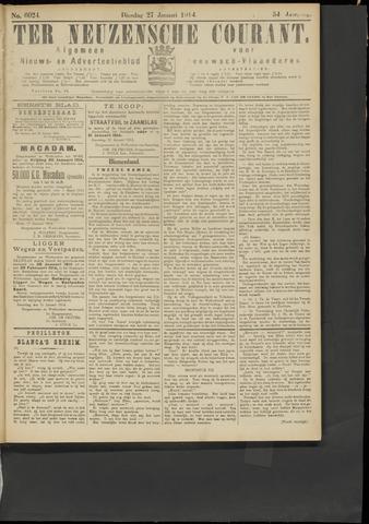 Ter Neuzensche Courant. Algemeen Nieuws- en Advertentieblad voor Zeeuwsch-Vlaanderen / Neuzensche Courant ... (idem) / (Algemeen) nieuws en advertentieblad voor Zeeuwsch-Vlaanderen 1914-01-27