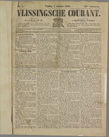Vlissingse Courant 1886