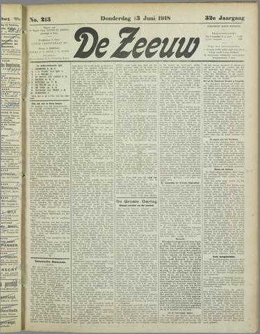 De Zeeuw. Christelijk-historisch nieuwsblad voor Zeeland 1918-06-13