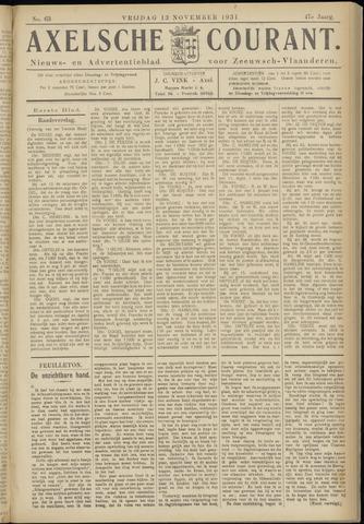 Axelsche Courant 1931-11-13