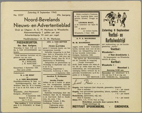 Noord-Bevelands Nieuws- en advertentieblad 1945-09-08