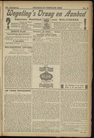 Zeeuwsch Nieuwsblad/Wegeling's Nieuwsblad 1925-02-27