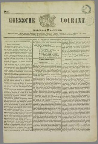 Goessche Courant 1851-01-09