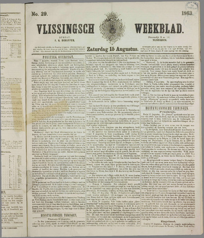 Vlissings Weekblad 1863-08-15