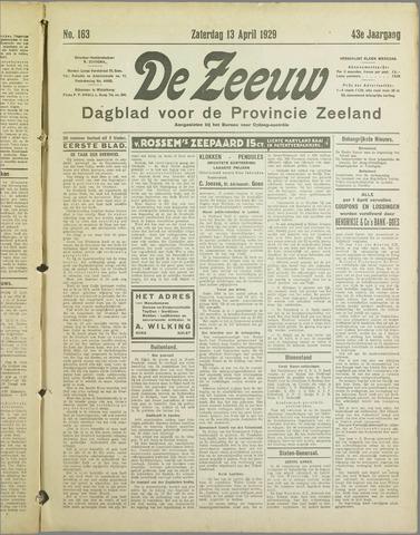 De Zeeuw. Christelijk-historisch nieuwsblad voor Zeeland 1929-04-13