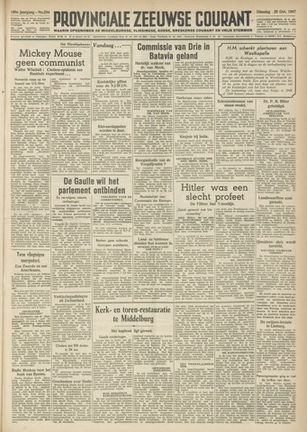 Provinciale Zeeuwse Courant 1947-10-28