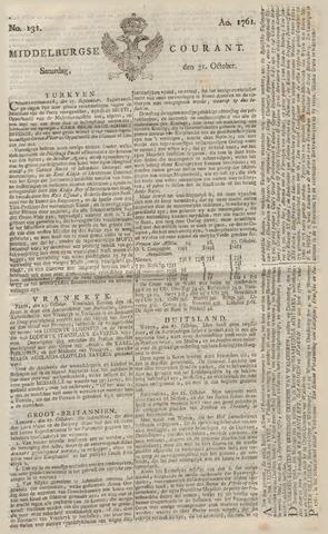 Middelburgsche Courant 1761-10-31