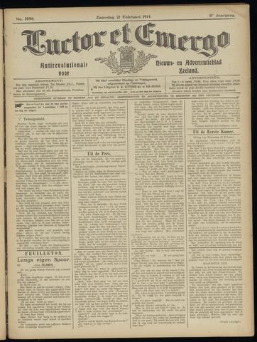 Luctor et Emergo. Antirevolutionair nieuws- en advertentieblad voor Zeeland / Zeeuwsch-Vlaanderen. Orgaan ter verspreiding van de christelijke beginselen in Zeeuwsch-Vlaanderen 1914-02-21