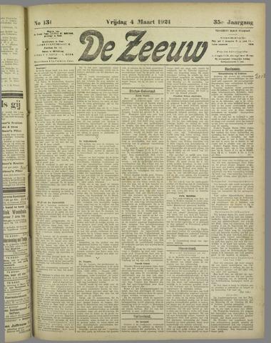 De Zeeuw. Christelijk-historisch nieuwsblad voor Zeeland 1921-03-04