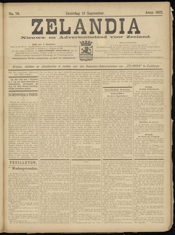Zelandia. Nieuws-en advertentieblad voor Zeeland | edities: Het Land van Hulst en De Vier Ambachten 1902-09-13