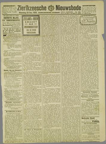 Zierikzeesche Nieuwsbode 1926-12-20