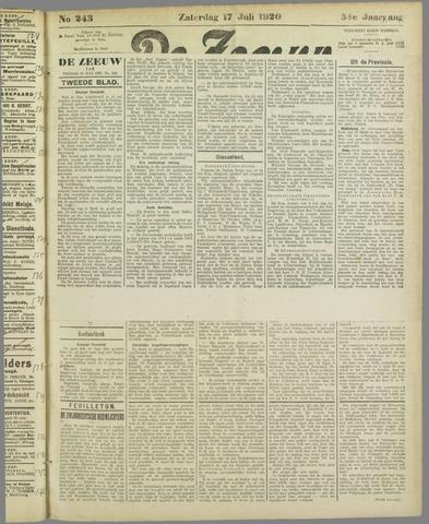 De Zeeuw. Christelijk-historisch nieuwsblad voor Zeeland 1920-07-17