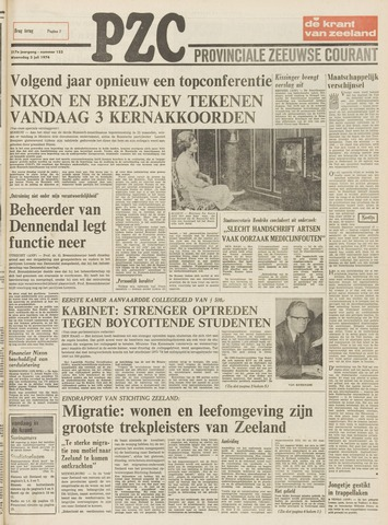Provinciale Zeeuwse Courant 1974-07-03