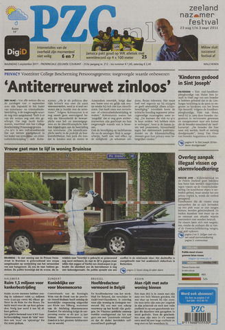 Provinciale Zeeuwse Courant 2011-09-05