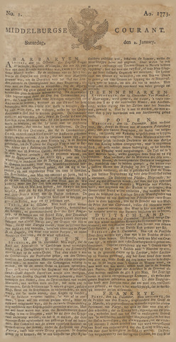 Middelburgsche Courant 1773