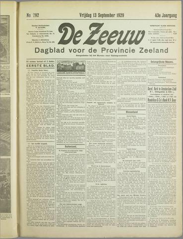 De Zeeuw. Christelijk-historisch nieuwsblad voor Zeeland 1929-09-13