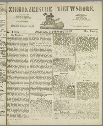Zierikzeesche Nieuwsbode 1855-02-05