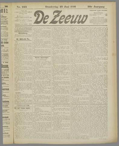De Zeeuw. Christelijk-historisch nieuwsblad voor Zeeland 1916-06-22