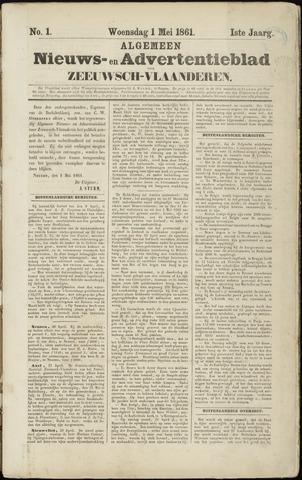 Ter Neuzensche Courant. Algemeen Nieuws- en Advertentieblad voor Zeeuwsch-Vlaanderen / Neuzensche Courant ... (idem) / (Algemeen) nieuws en advertentieblad voor Zeeuwsch-Vlaanderen 1861-05-01