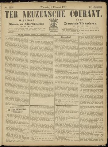 Ter Neuzensche Courant. Algemeen Nieuws- en Advertentieblad voor Zeeuwsch-Vlaanderen / Neuzensche Courant ... (idem) / (Algemeen) nieuws en advertentieblad voor Zeeuwsch-Vlaanderen 1887-02-09