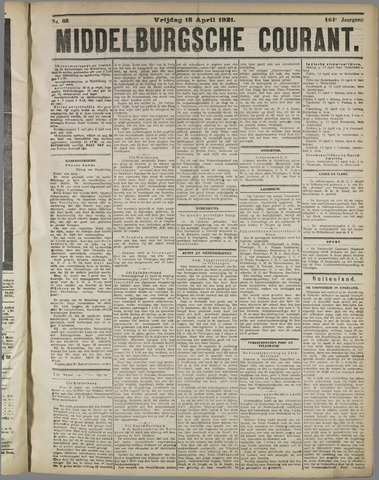 Middelburgsche Courant 1921-04-15