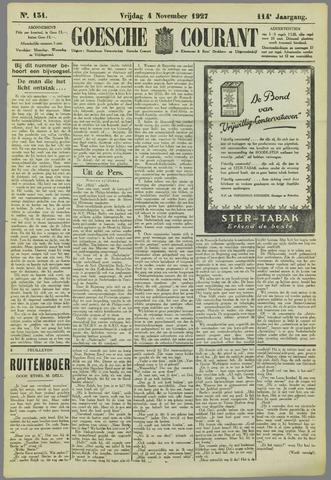 Goessche Courant 1927-11-04
