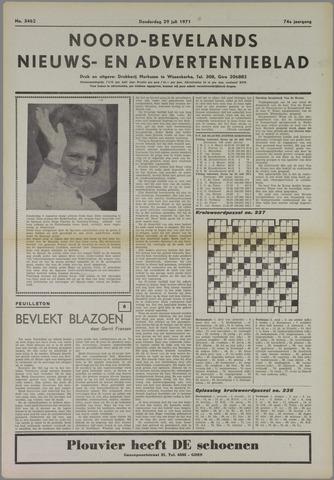 Noord-Bevelands Nieuws- en advertentieblad 1971-07-29