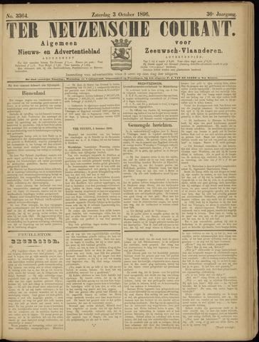 Ter Neuzensche Courant. Algemeen Nieuws- en Advertentieblad voor Zeeuwsch-Vlaanderen / Neuzensche Courant ... (idem) / (Algemeen) nieuws en advertentieblad voor Zeeuwsch-Vlaanderen 1896-10-03