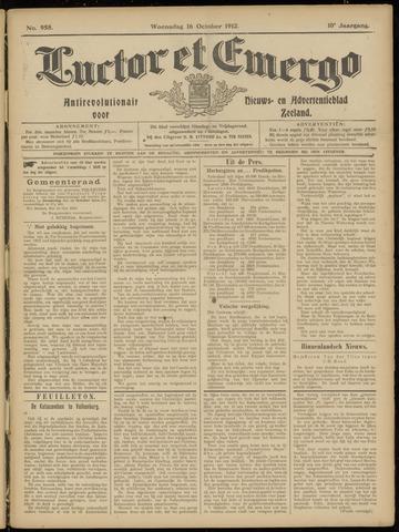 Luctor et Emergo. Antirevolutionair nieuws- en advertentieblad voor Zeeland / Zeeuwsch-Vlaanderen. Orgaan ter verspreiding van de christelijke beginselen in Zeeuwsch-Vlaanderen 1912-10-16