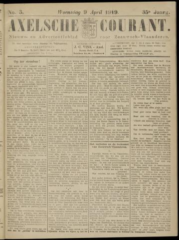 Axelsche Courant 1919-04-09