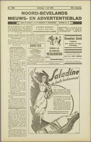 Noord-Bevelands Nieuws- en advertentieblad 1934-07-07
