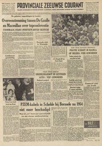 Provinciale Zeeuwse Courant 1960-04-07