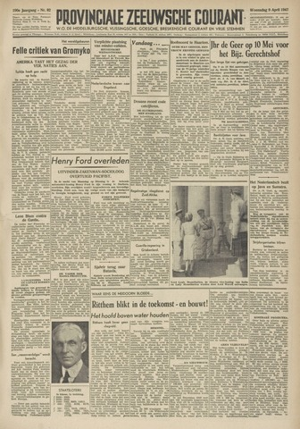 Provinciale Zeeuwse Courant 1947-04-09