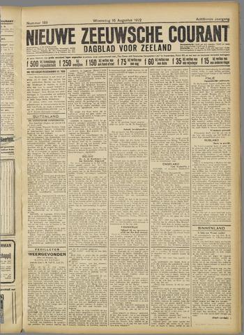Nieuwe Zeeuwsche Courant 1922-08-16