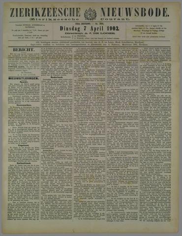 Zierikzeesche Nieuwsbode 1903-04-07