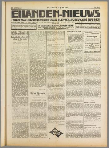 Eilanden-nieuws. Christelijk streekblad op gereformeerde grondslag 1940-06-15