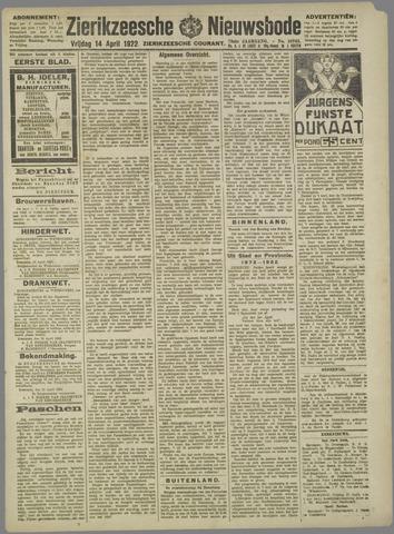 Zierikzeesche Nieuwsbode 1922-04-14