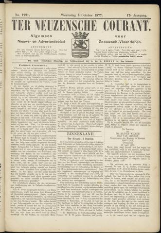 Ter Neuzensche Courant. Algemeen Nieuws- en Advertentieblad voor Zeeuwsch-Vlaanderen / Neuzensche Courant ... (idem) / (Algemeen) nieuws en advertentieblad voor Zeeuwsch-Vlaanderen 1877-10-03